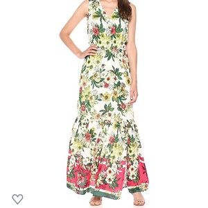 A1 Eci New York Tropical Floral Maxi Dress